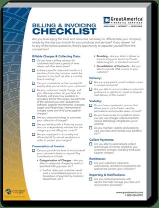 Billing and Invoicing Checklist Thumbnail