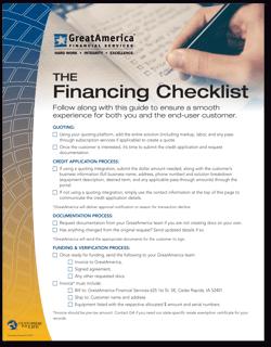 Financing Checklist 061621 THUMBNAIL