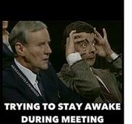 Boring Team Meeting Meme
